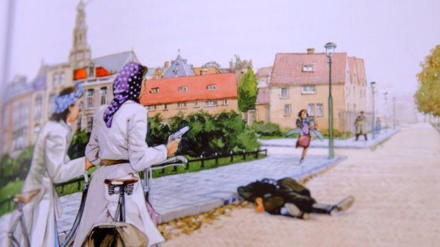 Ilustración de un asesinato.
